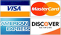 DeepHoleSaws.com accepts MasterCard, Visa, American Express, and Discover